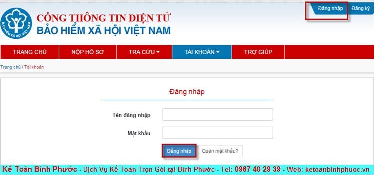 Hướng dẫn đăng ký tài khoản giao dịch Bảo Hiểm qua mạng 2 - Kế Toán Bình Phước