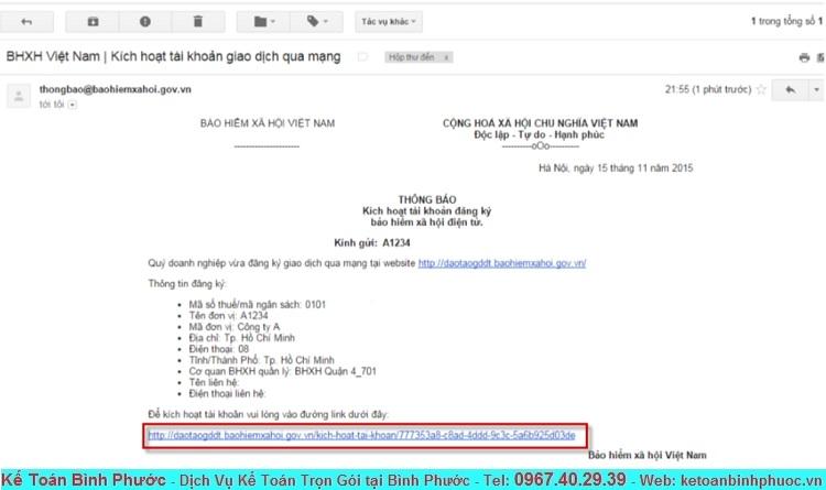 Hướng dẫn đăng ký tài khoản giao dịch Bảo Hiểm qua mạng 4 - Kế Toán Bình Phước