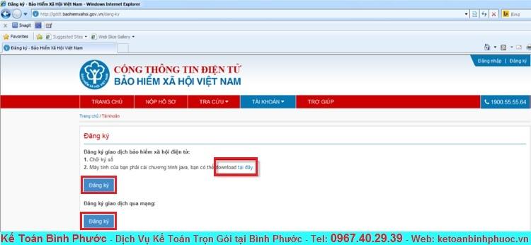 Hướng dẫn đăng ký tài khoản giao dịch Bảo Hiểm Xã Hội Điện Tử 2 - Kế Toán Bình Phước